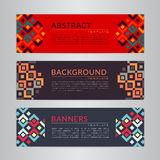 Set banners collection with abstract geometric backgrounds. Design templates for your projects. Vector illustration Stock Photos