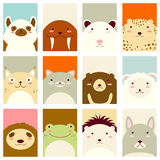 Set of banners with cute animals Stock Photography