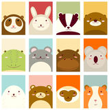 Set of banners with cute animals Royalty Free Stock Photo