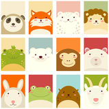 Set of banners with cute animals Stock Image