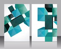 Set banners with 3d Cubes background Royalty Free Stock Photography