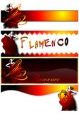 Set of banners with a dancer. (Vector Royalty Free Stock Photo