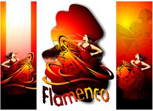 Set of banners with a dancer. (Vector Stock Photos