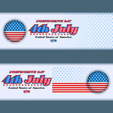 Set of banners design for fourth of July, American Independence Day Royalty Free Stock Photos