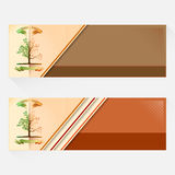 Set of banners design with Summer, Autumn season period changes Stock Images