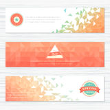 Set of banners with different geometric patterns Royalty Free Stock Image