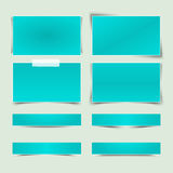 Set of banners with different shadows. Royalty Free Stock Photos