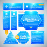 A set of banners of different shapes. Useful for web design. Royalty Free Stock Images