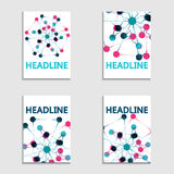 Set of banners dots connected by lines. Modern technology concept. Social network Stock Photography