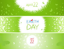Set of banners for Earth Day. Royalty Free Stock Photo