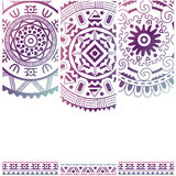 Set of banners with ethnic decorative ornament Stock Photos