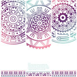 Set of banners with ethnic decorative ornament Stock Photography