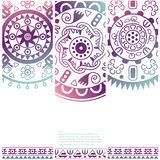 Set of banners with ethnic decorative ornament Stock Image