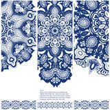 Set of banners with ethnic ornament Royalty Free Stock Image
