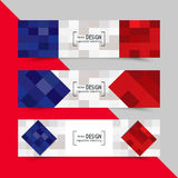 Set of banners for Euro 2016 World FIFA championship Stock Image