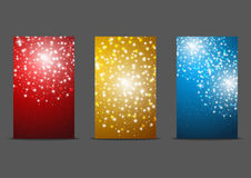 Set of 240 x 400 banners. With fireworks Stock Photography