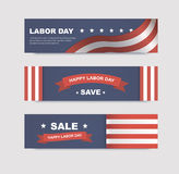 Set of banners with flags Royalty Free Stock Images