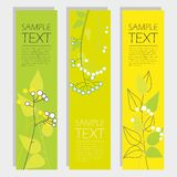 Set of banners with floral elements Stock Photography