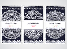 Set of banners with floral Indian ornaments. Ethnic Mandala. Boh Stock Photos