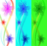 Set of banners from flowers Stock Photography