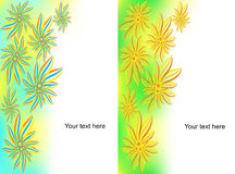 Set of banners from flowers Royalty Free Stock Photos
