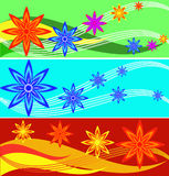 Set of banners from flowers Royalty Free Stock Images