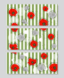 Set of banners with flowers Royalty Free Stock Image