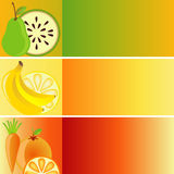Set of Banners: Fruit Theme. Set of three elegant banners Royalty Free Stock Image