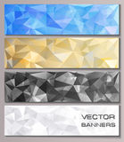 Set of banners with geometric pattern Stock Images