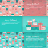 Set of banners with gift boxes. Vector illustration Royalty Free Stock Images