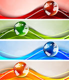 Set of banners with globes. Abstract illustration Royalty Free Stock Photo