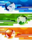 Set of banners with globes. Abstract illustration Royalty Free Stock Photos