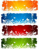 Set of banners with grass Stock Photos