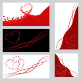 Set of banners with heart Stock Image