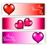 Set of banners with hearts. Royalty Free Stock Image