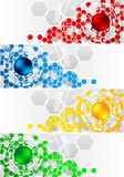 Set of banners with hexagon Stock Photos