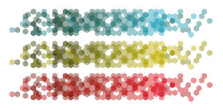 Set Banners with hexagonal background Royalty Free Stock Image