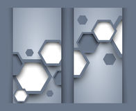 Set of banners with hexagons Royalty Free Stock Image