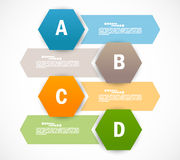 Set of banners with hexagons. Infographic design Stock Photography