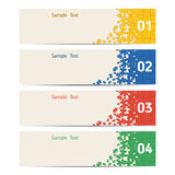 Set of banners Royalty Free Stock Photos