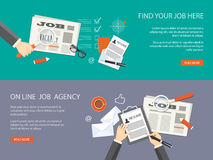 Set of  banners for job agency Royalty Free Stock Image