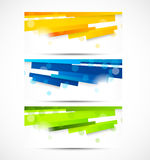 Set of banners with lines Royalty Free Stock Image