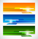 Set of banners with lines Stock Photo