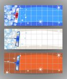 Set banners mop cleaning clean tile floor shiny. Vector. Illustration vector illustration