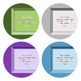 Set banners with mortise frames Royalty Free Stock Images