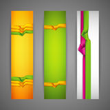 Banners with multicolored ribbons Royalty Free Stock Photography
