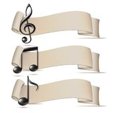 Set of banners with music icons. Stock Image
