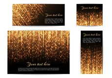 Banners with shiny lights Stock Photos