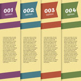 Set of Banners With Option Number Royalty Free Stock Photo