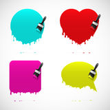 Set of banners with paintbrush Royalty Free Stock Images